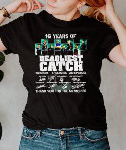 16 years of Deadliest Catch 2005 2021 signatures shirt