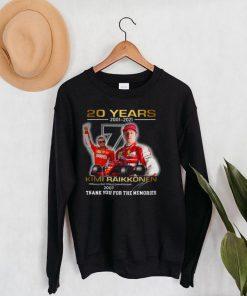 20 Years 2001 2021 Kimi Raikkonen Signature Thank You For The Memories T shirt