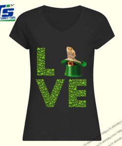 Awesome Love Bearded Dragon St Patrick's Day Shamrock Irish shirt 1