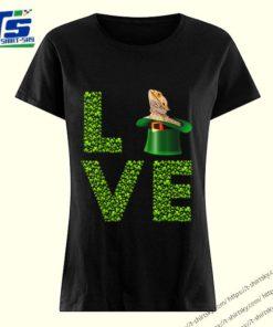 Awesome Love Bearded Dragon St Patrick's Day Shamrock Irish shirt 3