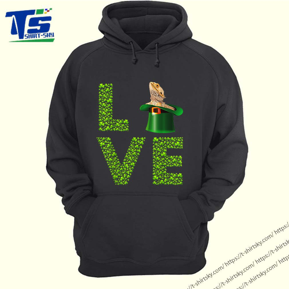 Awesome Love Bearded Dragon St Patrick's Day Shamrock Irish shirt 4