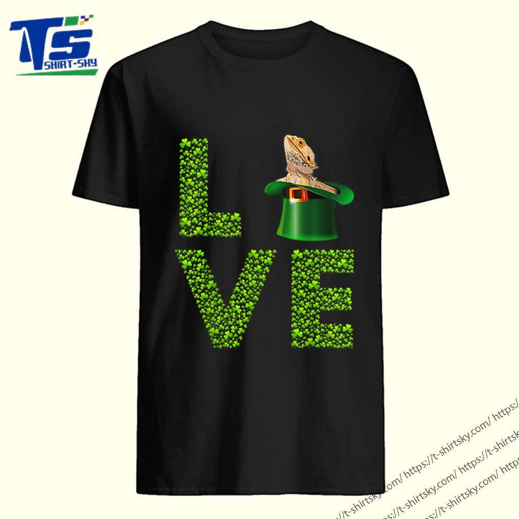 Awesome Love Bearded Dragon St Patrick's Day Shamrock Irish shirt 5