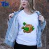 Beautiful Bear Eating Leprechaun St Patrick's Day Boys Girls shirt