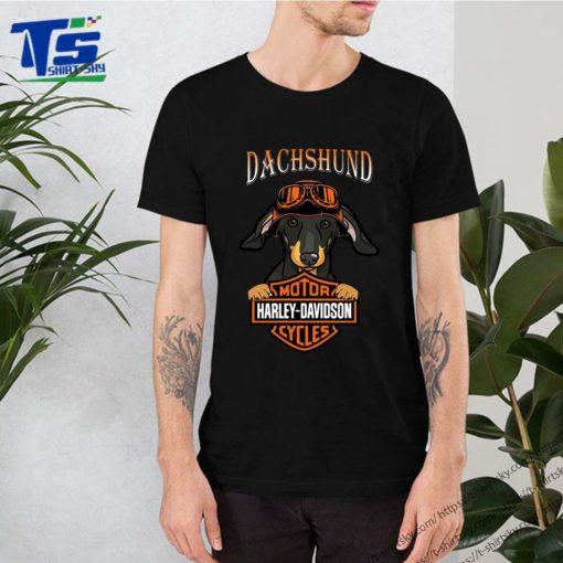 Dachshund Motor Harley Davidson cycles shirt
