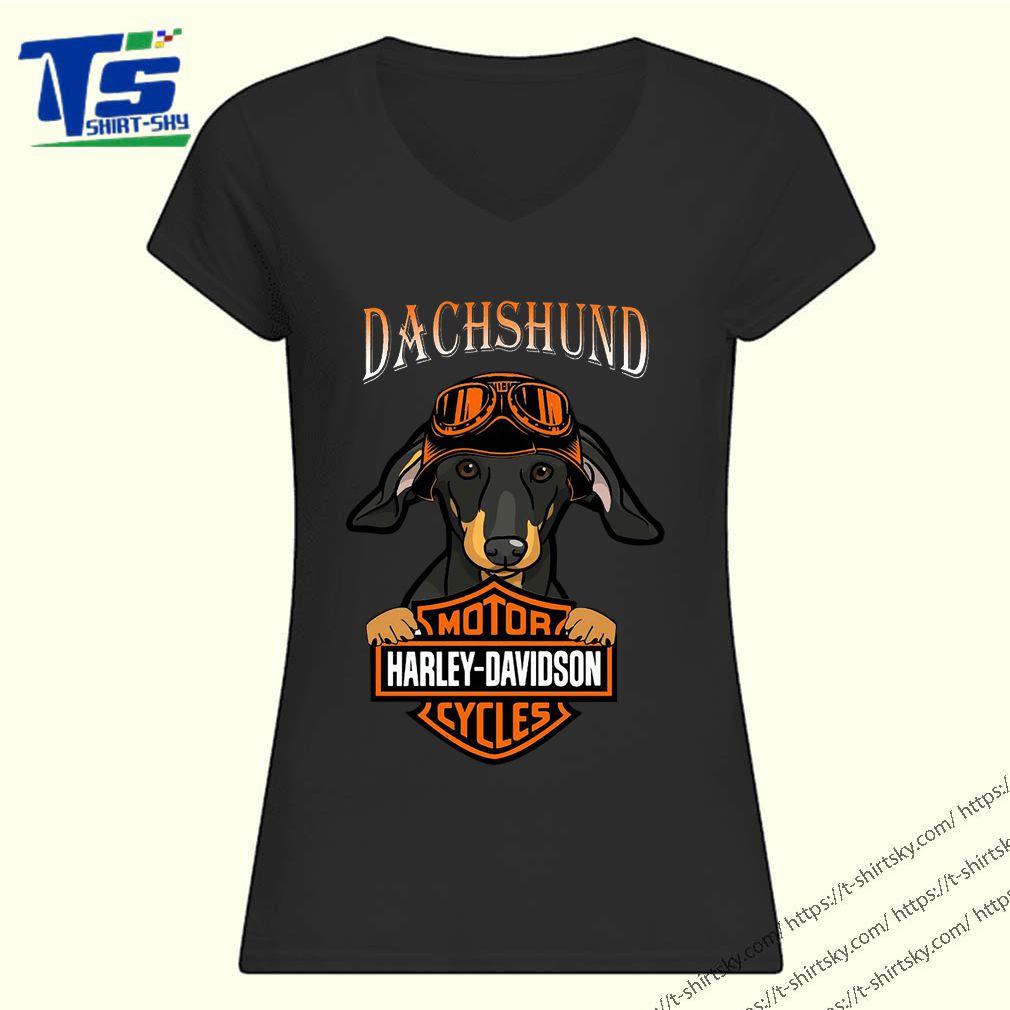 Dachshund Motor Harley Davidson cycles shirt 1