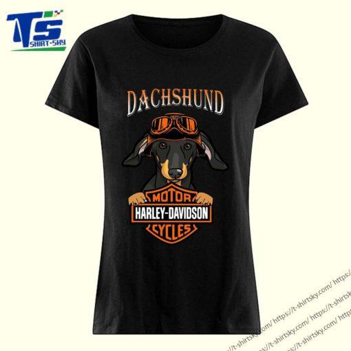 Dachshund Motor Harley Davidson cycles shirt 3