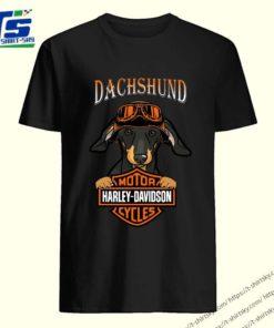 Dachshund Motor Harley Davidson cycles shirt 5