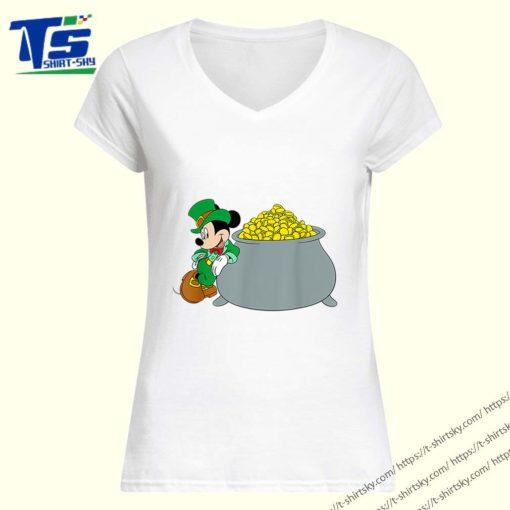 Disney Mickey Mouse St. Patrick's Day Pot of Gold shirt