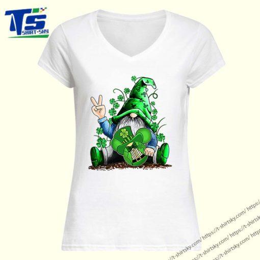 Gnome hug Mickey clover Irish St. Patrick's day shirt 1
