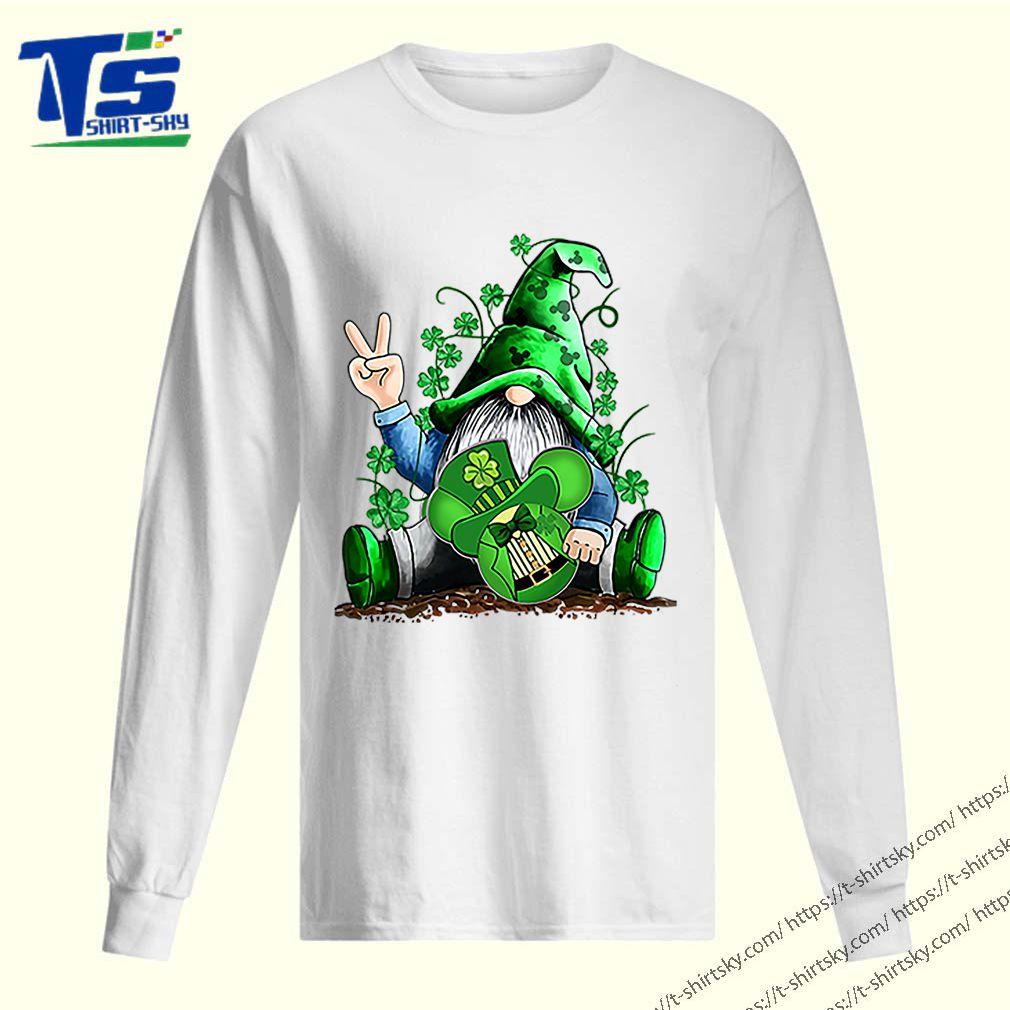 Gnome hug Mickey clover Irish St. Patrick's day shirt 2