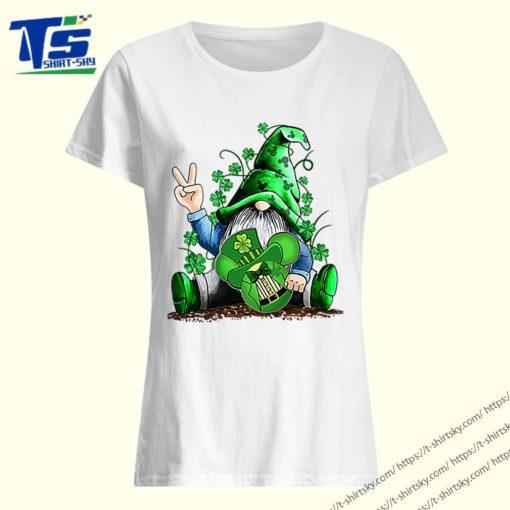 Gnome hug Mickey clover Irish St. Patrick's day shirt 3