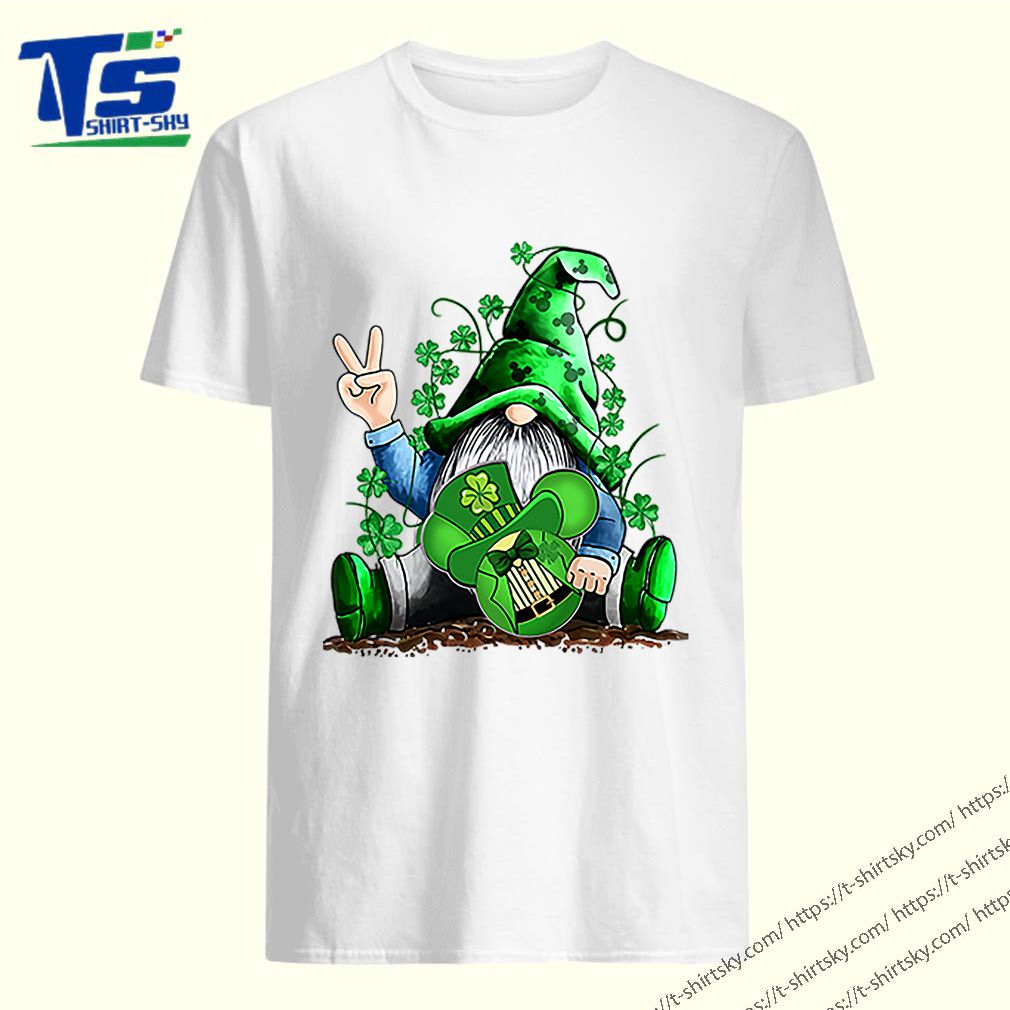 Gnome hug Mickey clover Irish St. Patrick's day shirt 5