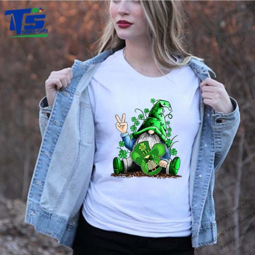 Gnome hug Mickey clover Irish St. Patrick's day shirt