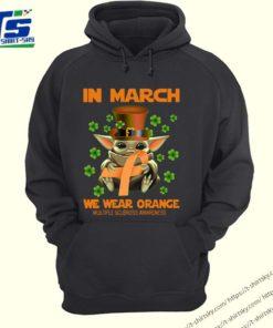 Multiple Sclerosis Awareness Baby Yoda In March We Wear Orange Shirt 4