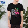 Nice A Wee Bit Irish Today Flamingo Leprechaun St Patricks Day shirt
