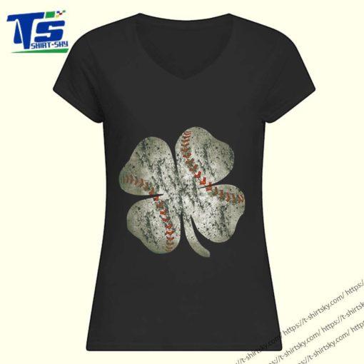 Pretty Baseball St Patricks Day Boys Men Catcher Pitcher Shamrock shirt