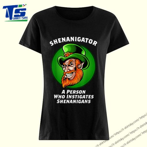 Top Shenanigans Funny Shenanigator St Patricks Day shirt 3