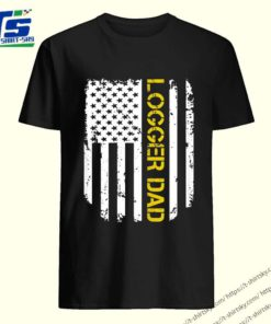 Vintage American Flag Proud Logger Dad Classic T-Shirt