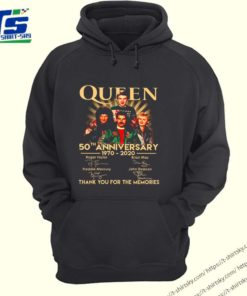 50th anniversary Queen 1970 2020 thank you for the memories shirt