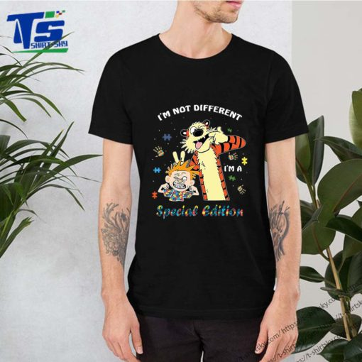 Autism Awareness i'm not different special edition Calvin Hobbes shirt