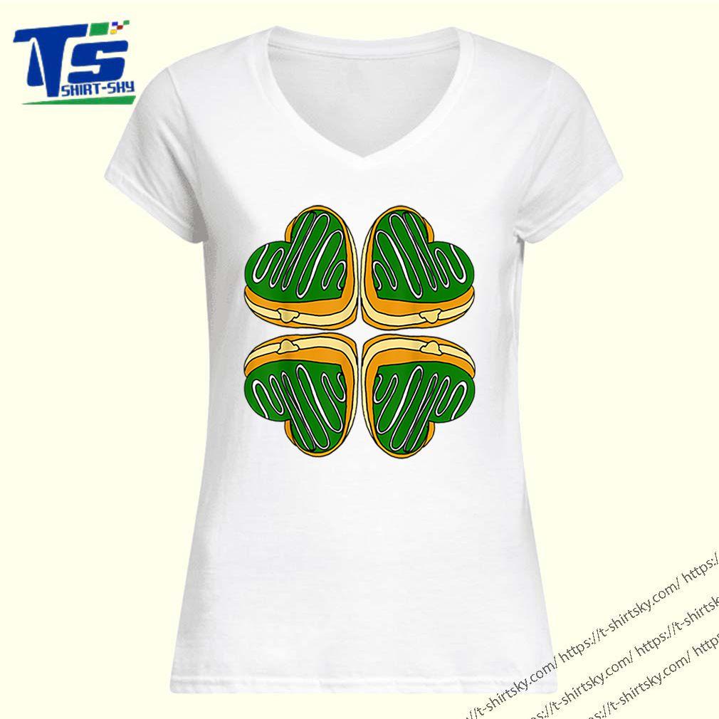 Awesome Four Leaf Clover Donut St Patricks Day Funny Irish shirt 1