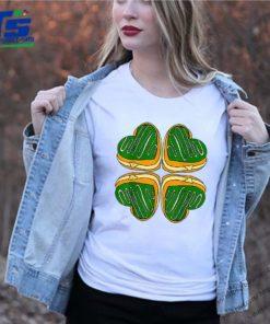 Awesome Four Leaf Clover Donut St Patricks Day Funny Irish shirt