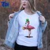 Beautiful Flamingo Bird St Patricks Leprechaun Irish Beer Party Men shirt