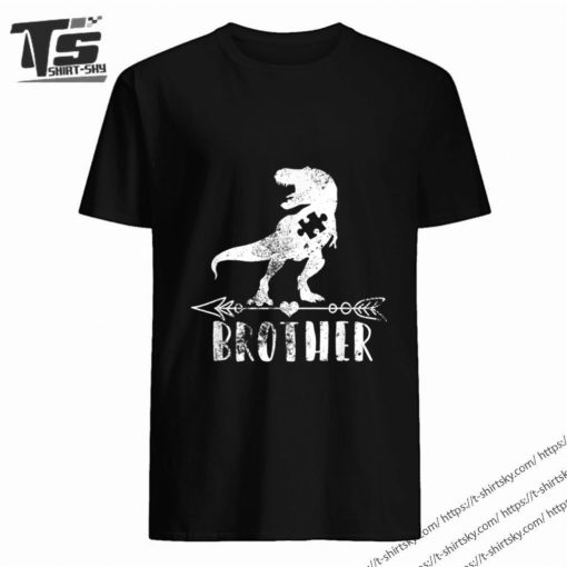 Brother Dinosaur Autism Awareness Puzzle Pieces Gift Ideas shirt