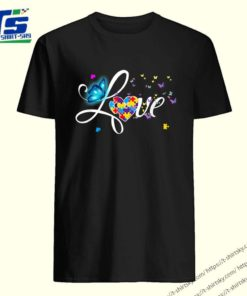Butterfly Love Autism shirt