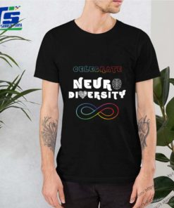 Celebrate Neurodiversity Rainbow Infinity Autism Awareness shirt