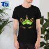 Cute Unicorn Face Shamrock Crown St Patrick's Day Gifts T-shirt