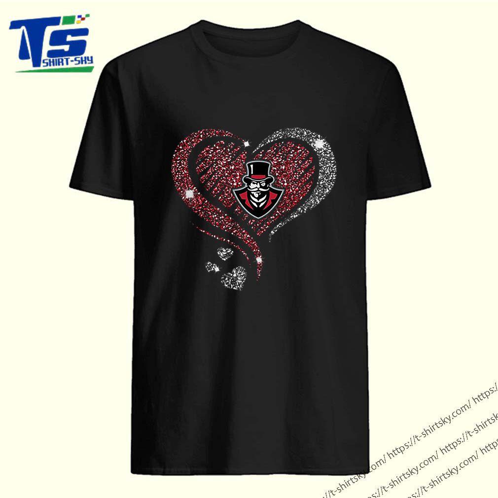 Diamond heart love Austin Peay Governors logo shirt