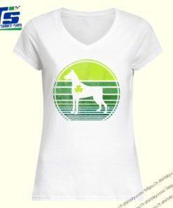 Doberman Pinscher Silhouette Irish Clover St Patricks Day T-shirt