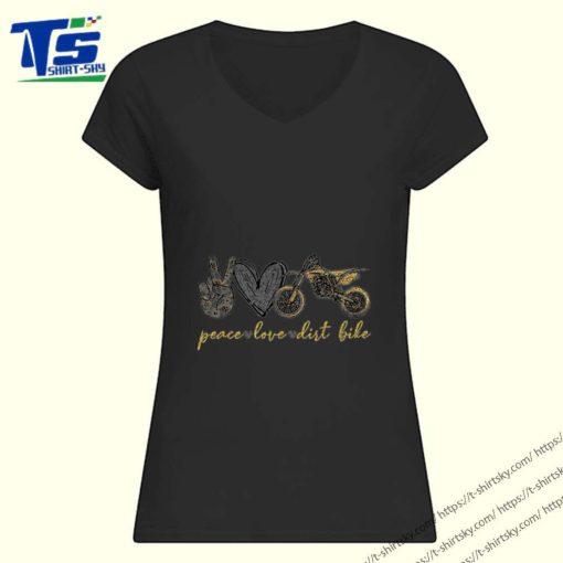 Glitter Peace love Dirt Bike Motorcycle shirt