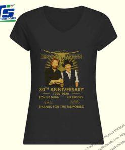 Logo Brooks and Dunn 30th anniversary 1990-2020 signatures shirt