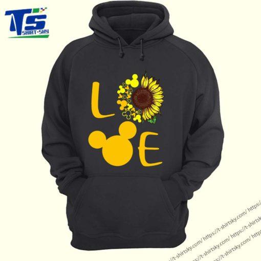 Love Sunflower Mickey mouse shirt