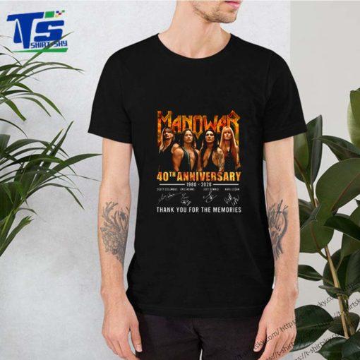 Manowar 40th anniversary 1980-2020 signatures shirt