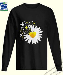 Mickey head Oxeye Daisy Flower shirt