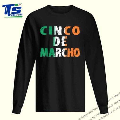 Nice Cinco De Marcho Irish Colors Of Flag St Patricks Day shirt