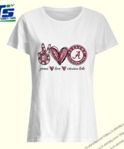 Peace Love Alabama Crimson Tide logo shirt