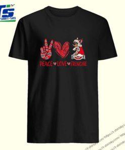 Peace love Frenchie Ohio State Buckeyes shirt