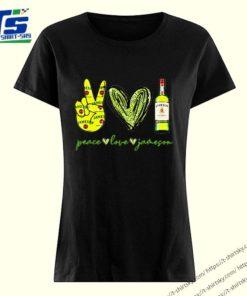 Peace love Jameson Irish Whiskey shirt