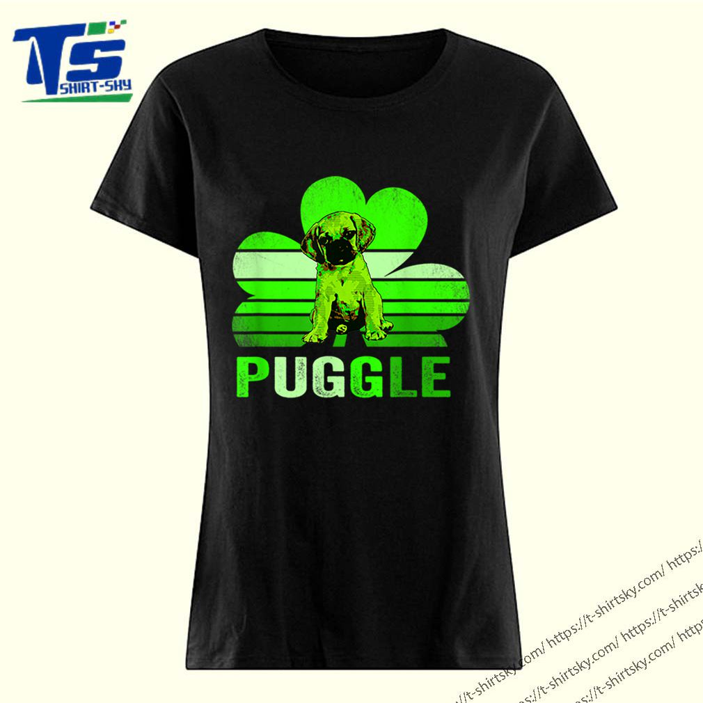 Puggle shamrock St Patricks day shirt