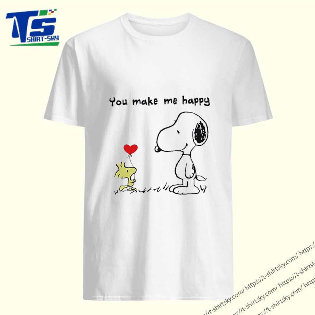 Snoopy and Woodstock you make me happy shirt