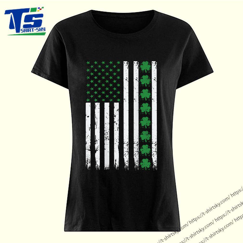 St. Patrick's Day IRISH AMERICAN Shamrock Flag shirt