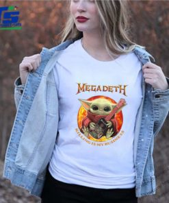 Star Wars Baby Yoda Hug Guitar Megadeth Killing Is My Business shirt