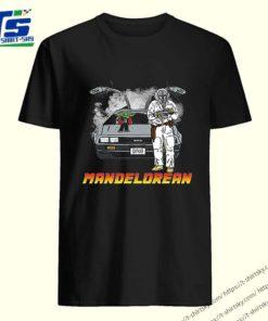 The Mandalorian and Baby Yoda Mandelorean DMC DeLorean shirt