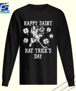 Top Happy Saint Hat Trick's Day St Patricks Day Funny Ice Hockey