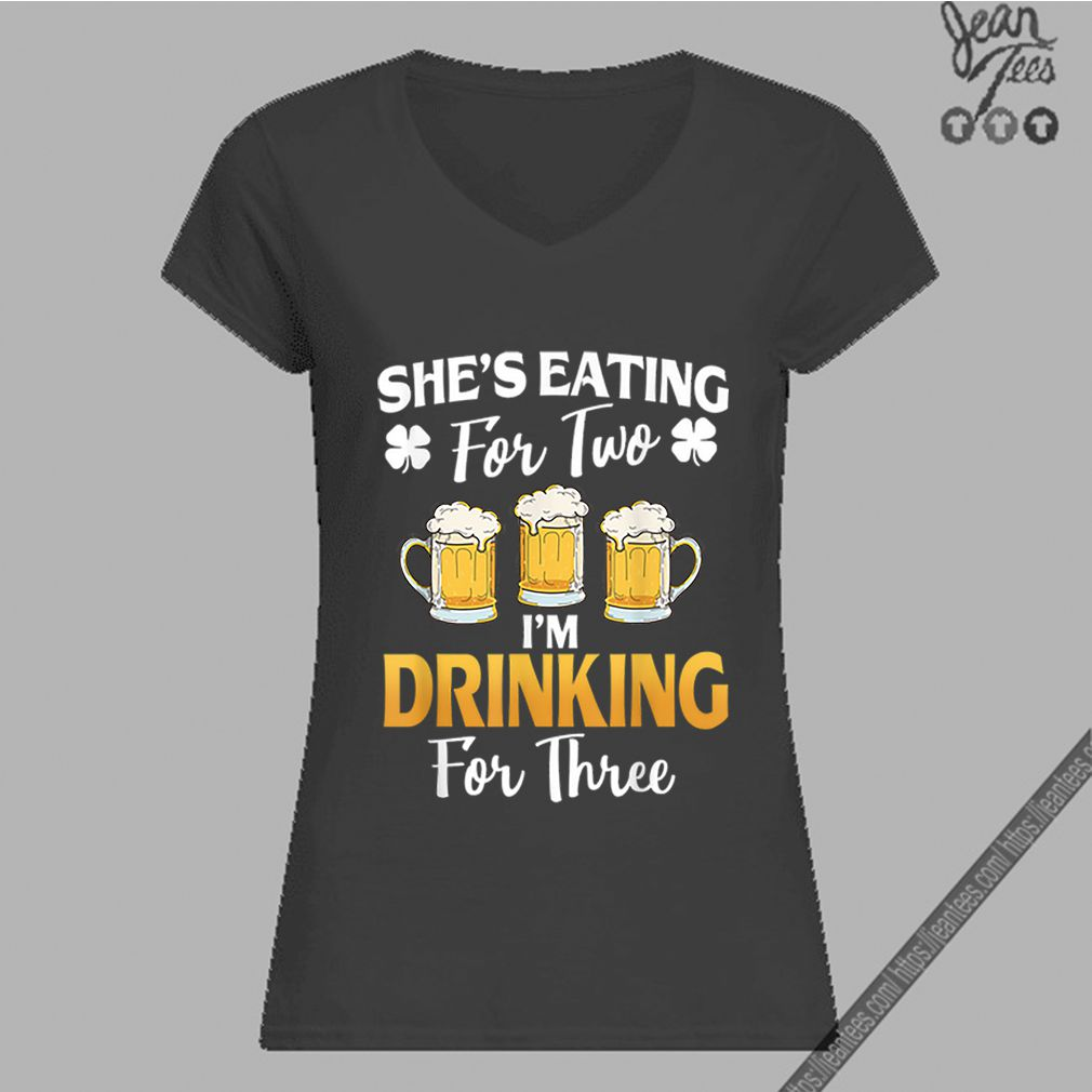Baby Yoda Houston Astros Baseball Logo shirtTop She's Eating For 2 I'm Drinking For 3 St Patricks Day