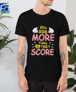 You are more than a test score shirt